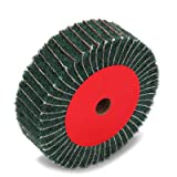 4inch Non-woven Abrasive Grinding Flap Wheel Nylon Fiber Interleaf Wheel Scouring Buffing Pad for Rotary Tool 2inch Thickness 120 Grit Green (Color: Green Interleaf, Tamaño: 100*50*20)