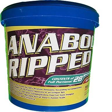 Proteinhaus Anabol Ripped Protein Pulver Eiweißpulver 2270g Shake mit Whey Aminosäuren Muskelaufbau Testo Booster BCAA Weight Gainer
