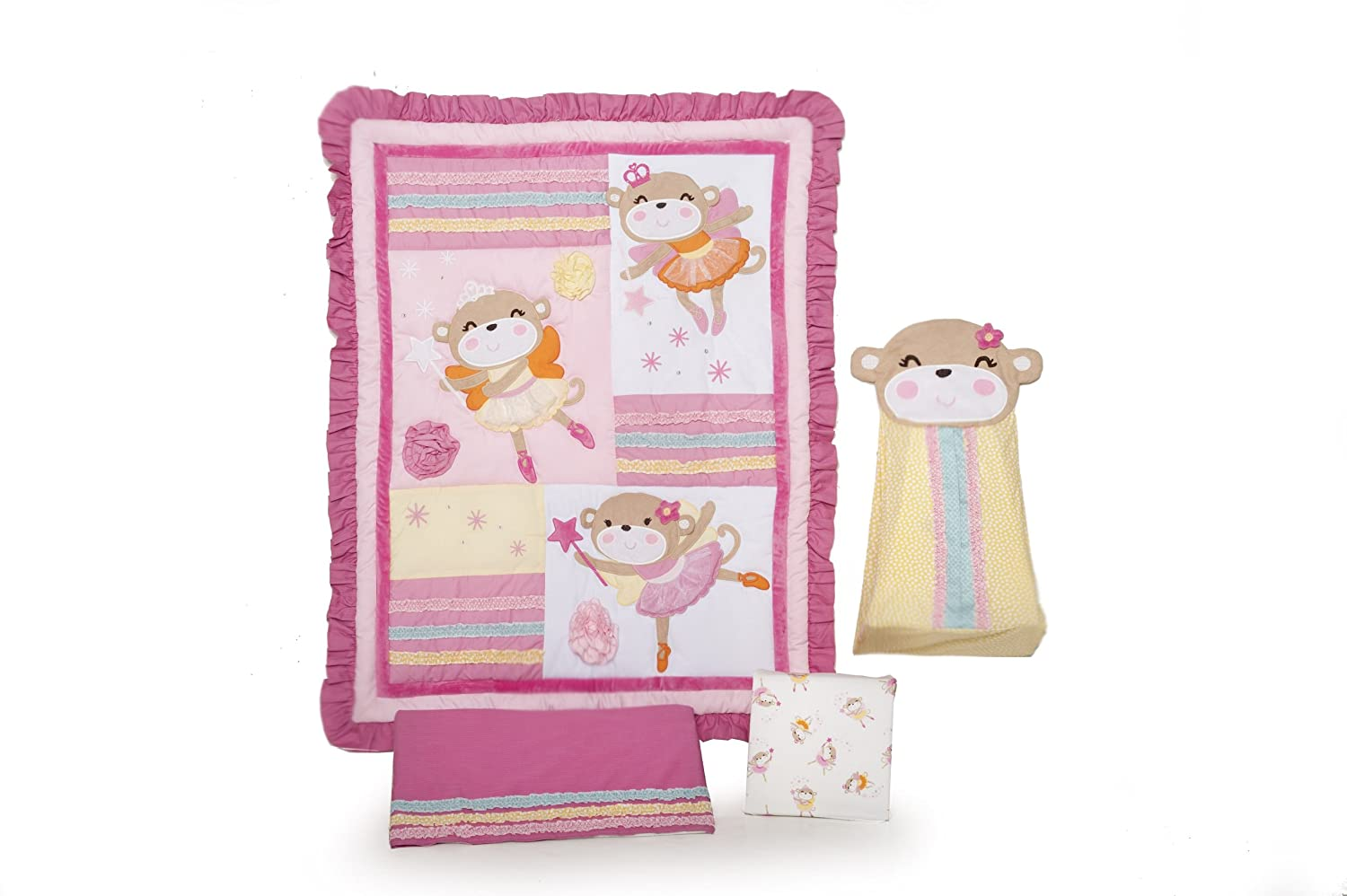 Carters Fairy Monkey Crib Bedding
