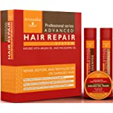 Advanced Hair Repair Shampoo and Conditioner Set with Argan Oil and Macadamia Oil by Arvazallia - Sulfate Free Shampoo , Conditioner, and Deep Conditioner Hair Mask System for Dry or Damaged Hair (Tamaño: 3 Product Set)