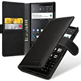 TETDED Premium Leather Case for BlackBerry KEY2 BBF100-1 BBF100-2 BBF100-4 BBF100-6 Dual SIM, Gerzat, Book Type (Nappa Black) (Color: Nappa Black)