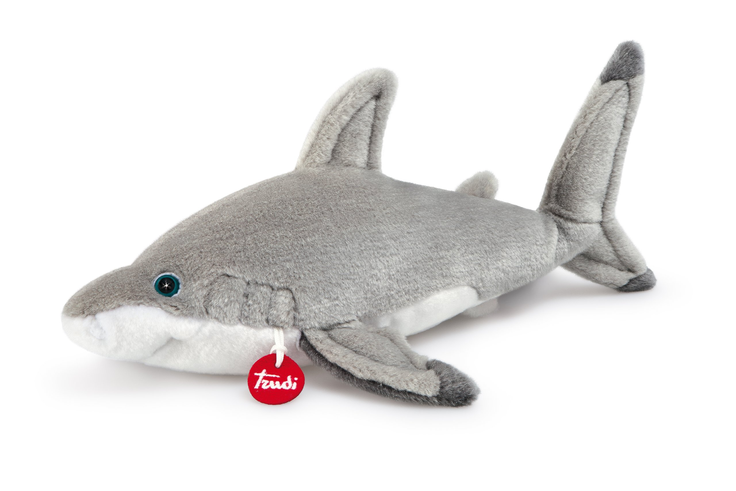 Trudi Classic Shark Blu Plush Toy Large Ebay