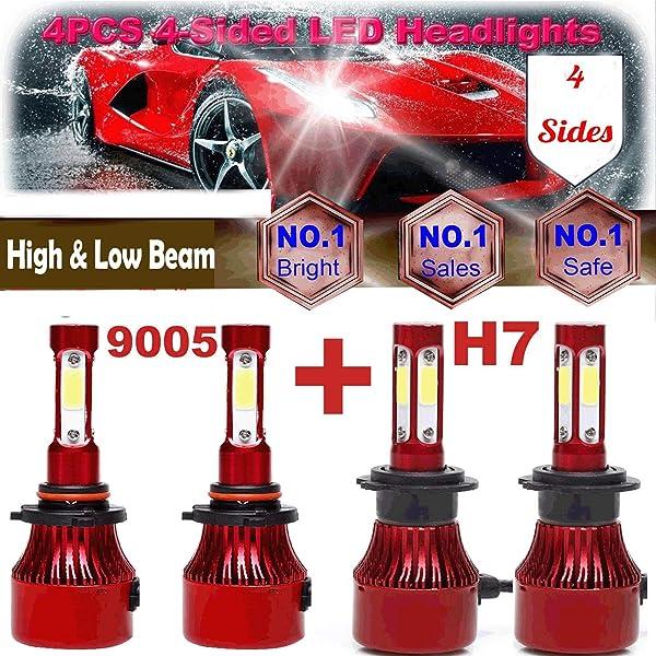 9005 9006 LED Total 320W 32000LM Combo Headlight Fog Bulb High Low Beam Kits