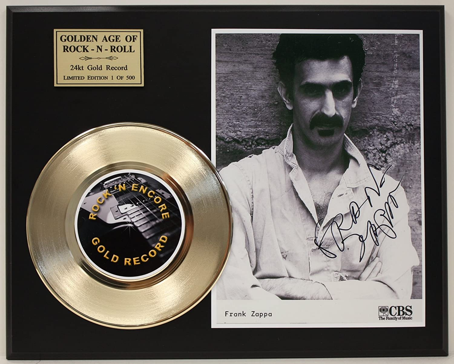 Frank Zappa Gold Record Signature Series LTD Edition Display