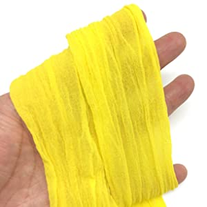 PEPPERLONELY Yellow 10PC 23 Inch Nylon Stocking Flower Fabric for Flowers Making - Yellow (Color: 18#. Yellow)