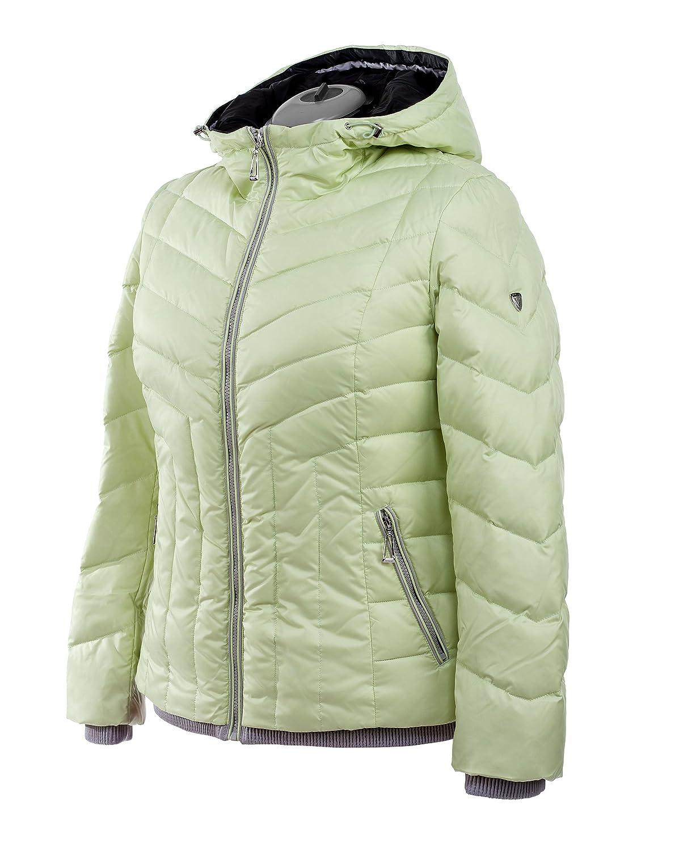 M105 VLASTA Snowimage Plus SIZE Damen Daunenjacke Sportjacke Outdoor Comfort Größen Farbe: hellgrün