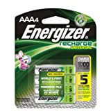 Energizer 11709 - AAA Cell 1.2 volt Universal Recharge Battery (4 pack) (UNH12BP-4)