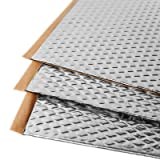 Noico 80 mil 18 sqft car Sound deadening mat, butyl automotive Sound Deadener, audio Noise Insulation and dampening (Color: Silver, Tamaño: 18 sqft)