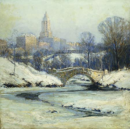 Fine art Wall Decals Central Park by Colin Campbell Cooper - 24 inches x 24 inches - Peel and Stick Removable Graphic
