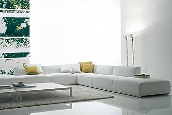 Calia Maddalena - Poltrona - 90x65x90 cm per Divano angolare grande Casablanca, Tessuto Microfibra Verde Scuro
