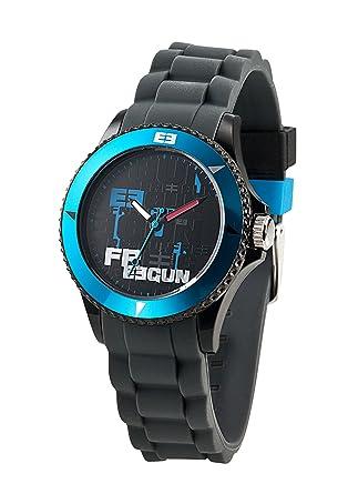 71fd2e8371990 *Info boutique Freegun - EE5041 - Montre Mixte - Quartz Analogique - Cadran  Noir - Bracelet Silicone Multicolore.