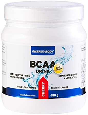 Energybody BCAA Drink plus L-Glutamine Cherry, 1er Pack (1 x 480 g)
