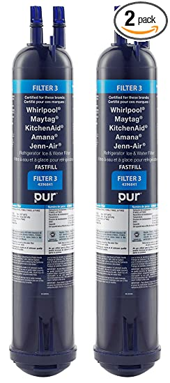 Whirlpool 4396841P PUR Push Button Side-by-Side Refrigerator Water Filter,