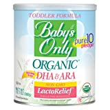 Baby's Only Organic LactoRelief with DHA & ARA Toddler Formula, 12.7 Ounce (Pack of 6)