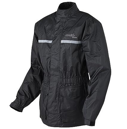 NERVE 1012030404_01 Heavy Rain Veste Pluie, Noir, Taille : XS