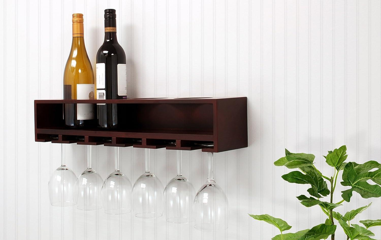 wine glasses wine bottles storage wooden wall mounted. Black Bedroom Furniture Sets. Home Design Ideas