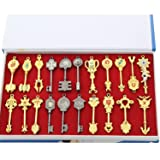 xcoser Fairy Tail Key Blade 21pcs Keychain Necklace Pendant Cosplay Collection Set 2017 (Color: Style 2(21 Keys), Tamaño: Normal size)