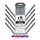 WeldingCity 10-pcs Premium TIG Welding Tungsten Electrode Rod 2.0% Ceriated (Gray/AWS: EWCe20) 1/8