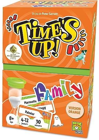 Asmodee TUF2N Jeu de Societe Time's Up Family 2 Orange