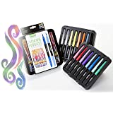 Crayola Blending Marker Kit with Decorative Case, 14 Vibrant Colors & 2 Colorless Blending Markers (Color: Assorted.)
