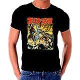 Godzilla Japanese Poster T shirt (Color: Black, Tamaño: Large)