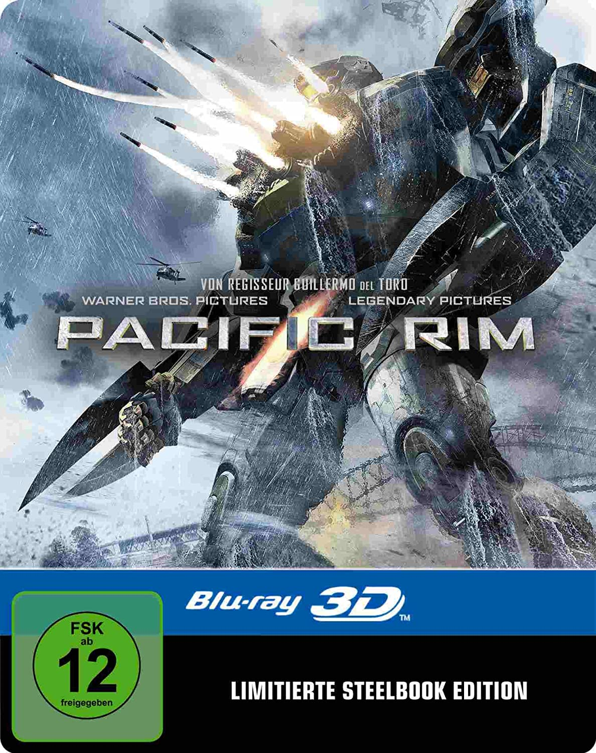 Pacific Rim (3D Blu-ray SteelBook) (Amazon Exclusive ... Pacific Rim 2013 Bluray