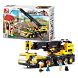 Sluban M38-B0553 Vehicle Blocks Engineering Bricks Toy – Crane Truck