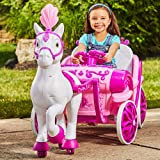 MMOYT Disney Princess Royal Horse Carriage Girls 6V Ride-On Toy Huffy (Color: Pink)