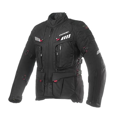 Clover 99172304_ 08Crossover de 3airbag compatible, Veste de moto Noir Taille 4X L