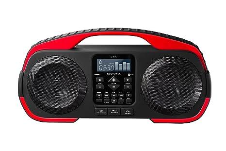 S -Digital - X3008 - Splash R -  Enceinte Portable - Résistante à l'Eau - Rechargeable - Bluetooth - Radio - USB - MP3 - 40 W Rouge