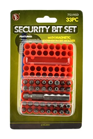 SE 7519SD 33-Piece Security Bit Set with Magnetic Extension Bit Holder