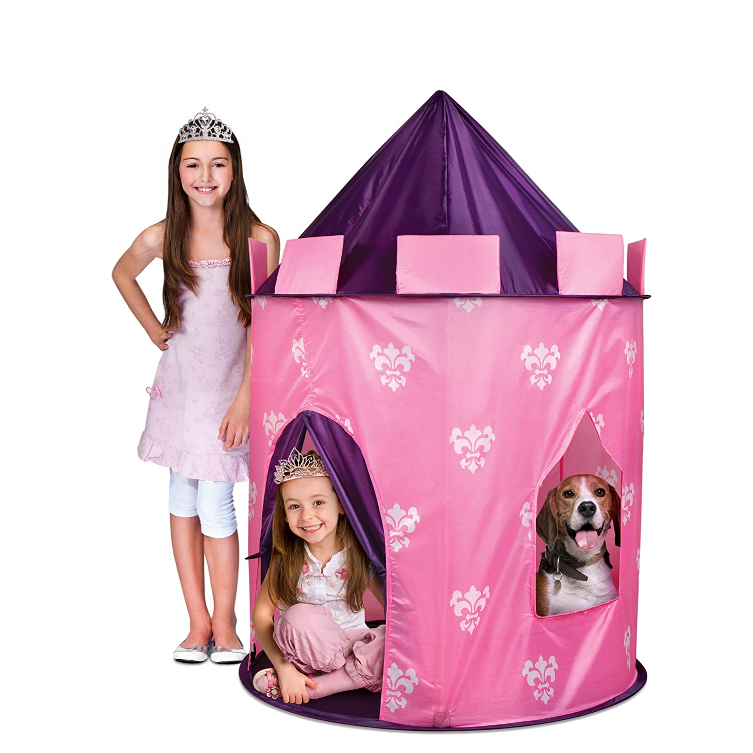 This high quality indoor kids tent not only has a roomy door but also lets your little princess peer out her window over looking her kingdom.  sc 1 st  kids Indoor Tents & Princess Pink Castle Indoor Tent - kids Indoor Tents