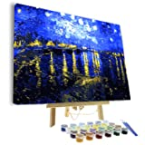 VIGEIYA DIY Paint by Numbers for Adults Include Framed Canvas and Wooden Easel with Brushes and Acrylic Pigment 15.7x19.6inch (Color: colourful, Tamaño: 15.7*19.6in)