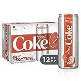 Diet Coke Zesty Blood Orange Soda Soft Drink, 12 fl oz, 8 Pack (Tamaño: 12  Ounces)