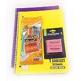 Back to School Bundle;Notebook, Bic Mechanical pencils, clasemate Eraser