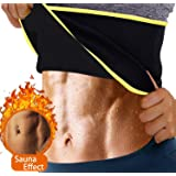 Women Hot Sweat Waist Trainer Trimmer Belt Fat Burner Sweat Corset Body Shaper for Weight Loss (Color: Black, Tamaño: Large)