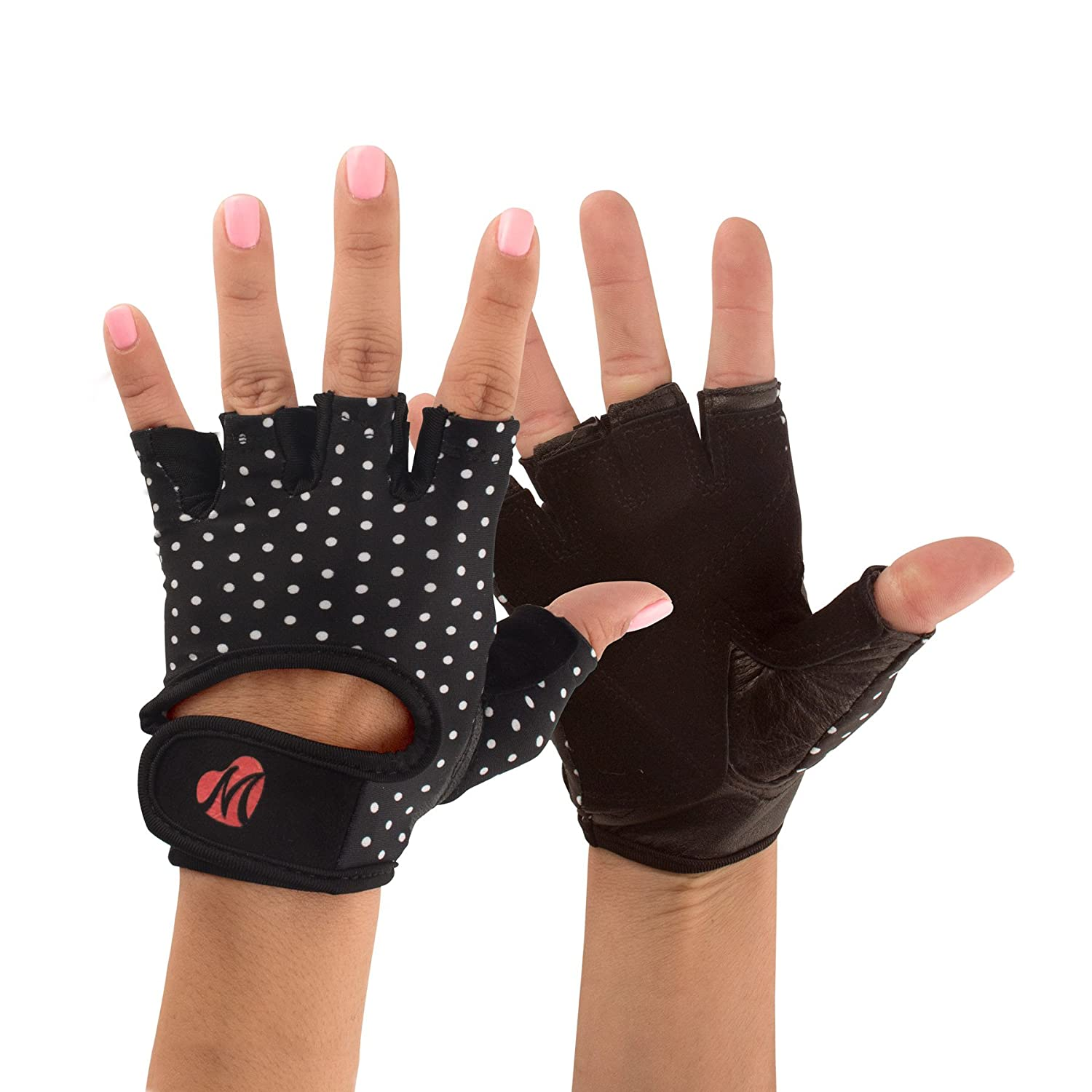 Mellie Gloves Gym Gloves for Women Polka Dots
