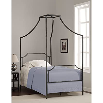 Metro Shop Bailey Twin Size Metal Canopy Bed-Bailey Twin Size Bed
