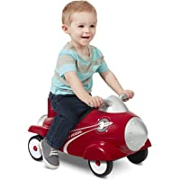 Radio Flyer Retro Rocket Ride-On with Lights and Sounds (Red)