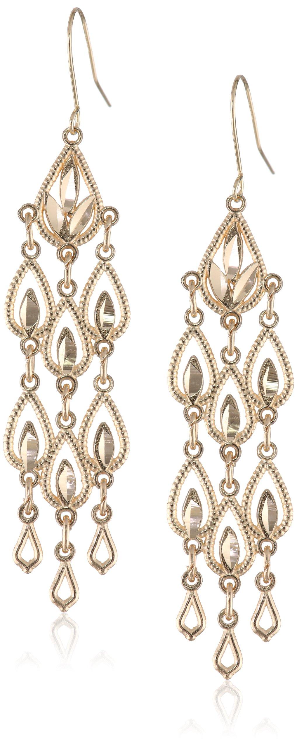 Diamond-Cut Chandelier Drop Earrings image