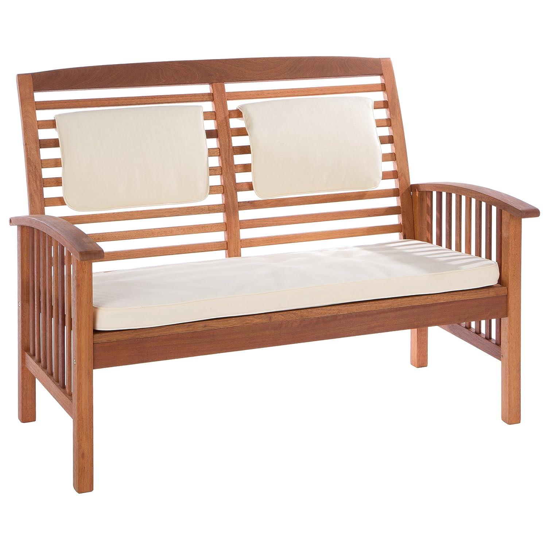 Ultranatura Loungebank 2-Sitzer, Canberra Serie - Edles & Hochwertiges Eukalyptusholz FSC zertifiziert - 119 cm x 71 cm x 89 cm