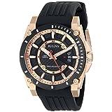 Bulova Men's 98B152 Precisionist Analog Chronograph Black Watch (Color: black, Tamaño: CASE 46MM)