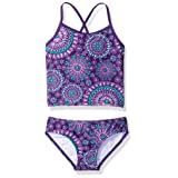Kanu Surf Girls' Toddler Melanie Tankini Swimsuit, Purple, 3T