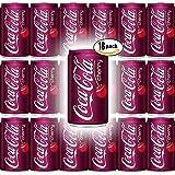 Coca-Cola Cherry, 7.5 Fl Oz Mini Can (Pack of 18, Total of 135 Fl Oz)
