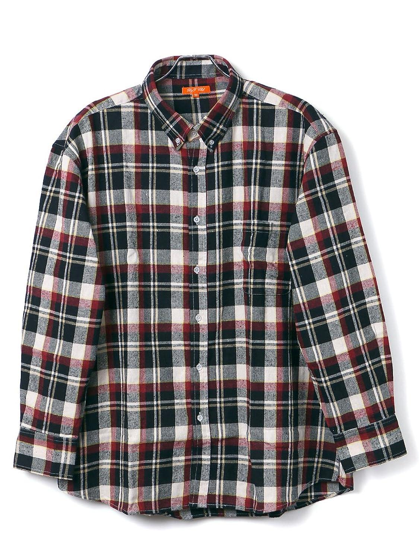 Amazon.co.jp: (ビーアンドティークラブ) B&T CLUB 大きいサイズ メンズ 胸ポケット付き チェックシャツ チェック柄 ボタンダウン フランネルシャツ ネルシャツ サカゼン: 服&ファッション小物通販