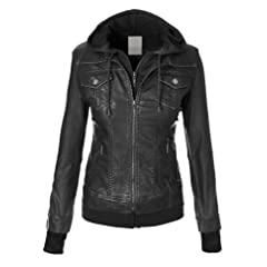 Lock and Love Womens Everyday Bomber Jacket