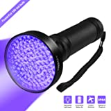 UV Blacklight Flashlight, Hinmay Super Bright 100 LED # 1 Best Powerful Black Light Flashlight 395NM Ultraviolet Urine Detector Flashlight for Home & Hotel Inspection, Pet Urine & Stain Detection