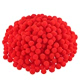 Blulu Pompoms for Craft Making and Hobby Supplies, 500 Pieces, 1.2 cm/ 0.5 Inch (Red) (Color: Red)