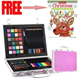 Gallery Studio- 69 Piece Deluxe Art Supplies Set in Pink Aluminum Case - (Quality Mediums Guaranteed) (Color: Pink)