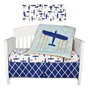 Sumersault Taking Flight Crib Bedding Collection